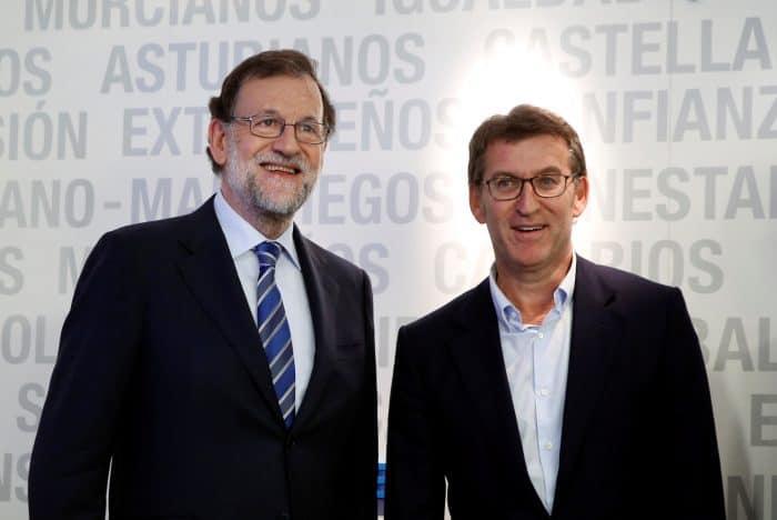 MAriano Rajoy y Alberto Núñez Feijóo.