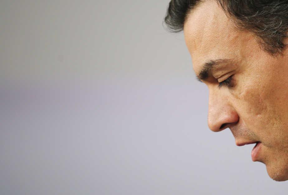 Pedro Sánchez, tras dimitir el 1 de octubre de 2016. FOTO: Reuters