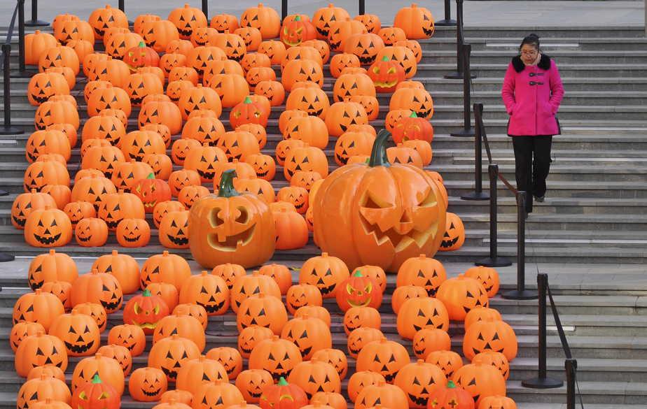 Calabazas de Halloween. FOTO: Reuters