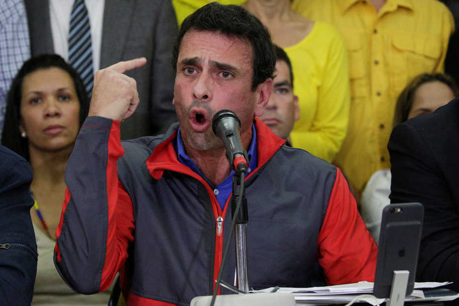 El líder opositor venezolano Henrique Capriles. FOTO: Reuters