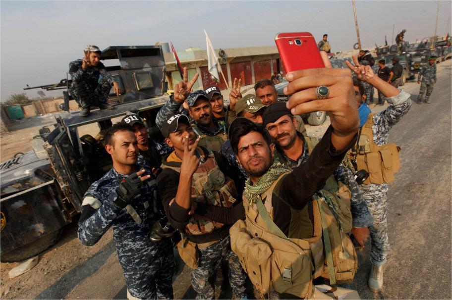 Selfie en Mosul, Siria