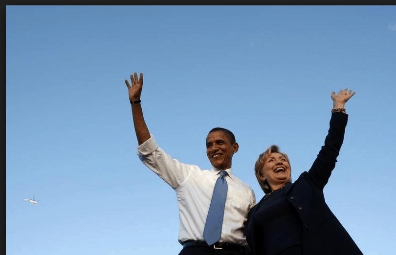 Barack Obama Hillary Clinton campaña demócrata