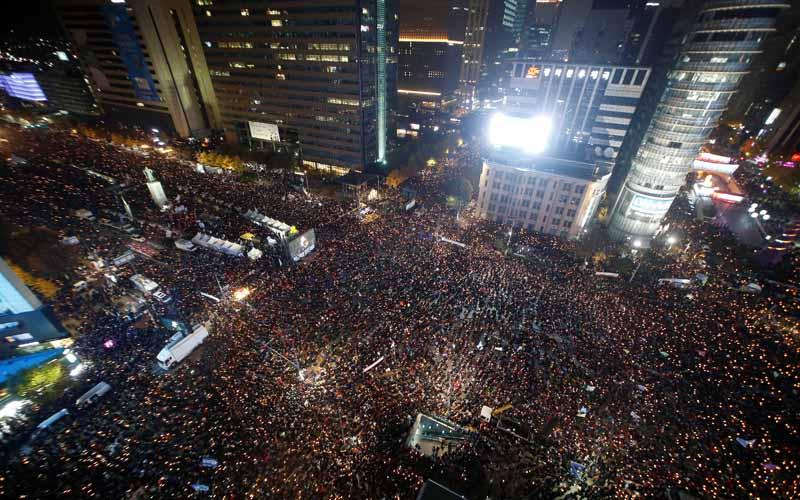 Protesta Corea del Sur