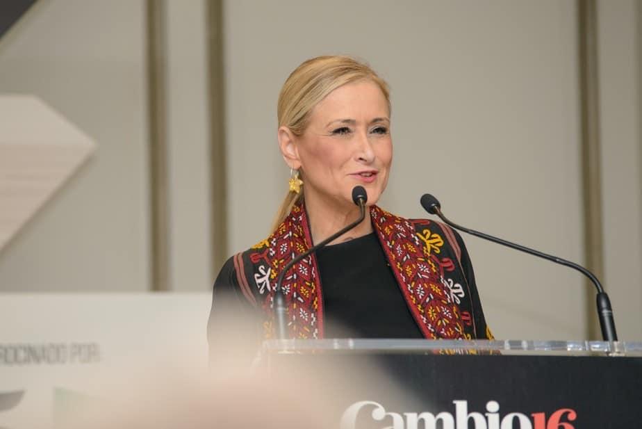 Cristina Cifuentes en los Premios Cambio16 de 2016. FOTO: Ángel Santamaría