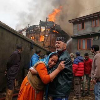 Explosión registrada en una zona residencial de Srinagar, en India