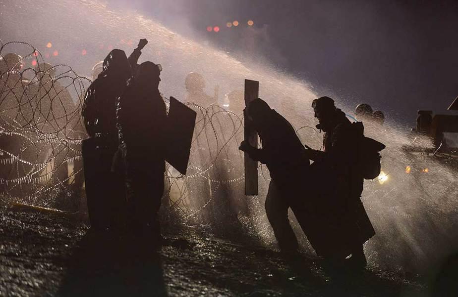 Manifestantes contra oleoducto en Estados Unidos