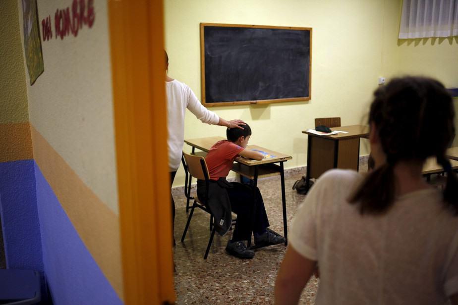 Un aula de un colegio de Puente Tocinos, en Murcia. FOTO: Reuters