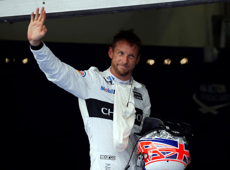 Formula One - F1 - Malaysia Grand Prix - Sepang, Malaysia - 1/10/16 McLaren's Jenson Button of Britain waves after qualifying session. REUTERS/Edgar Su  - RTSQAVY