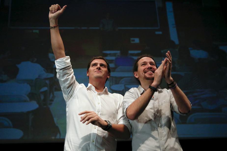 Los líderes de Ciudadanos y Podemos, Albert Rivera y Pablo Iglesias, respectivamente. FOTO: Reuters