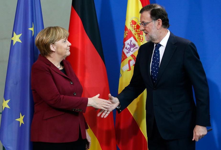 Merkel y Rajoy: La unidad europea frente a Puigdemont