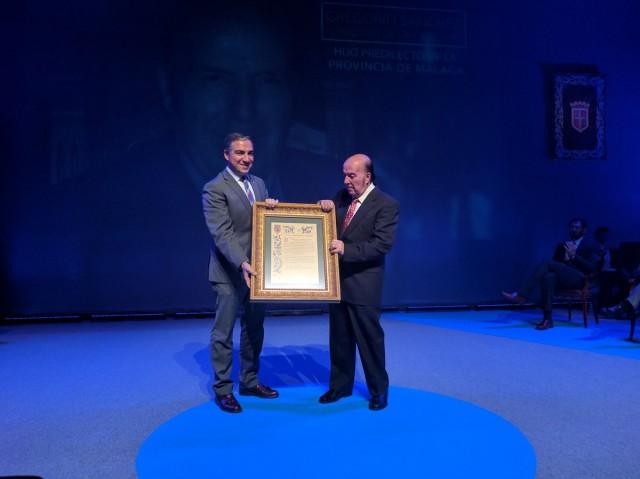 Chiquito de la Calzada fue reconocido en 2016 como Hijo Predilecto de la ciudad de Málaga
