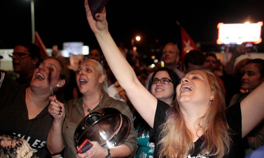 Festejo en Miami por muerte de Fidel Castro