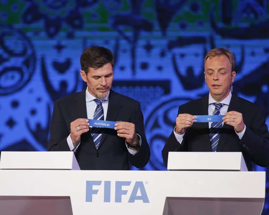 Football Soccer -  Confederations Cup 2017 official draw - Kazan, Russia - 26/11/16. FIFA official's perform the drawing.   REUTERS/Maxim Shemetov  - RTSTEZ6
