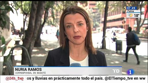 La corresponsal de RTVE en Colombia, Nuria Ramos. FOTO: RTVE