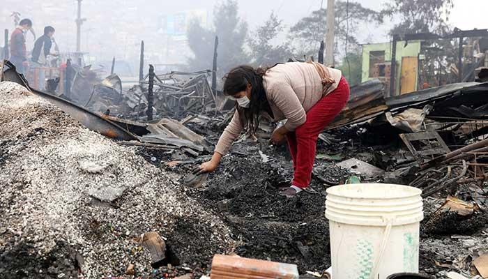 Perú incendio damnificados