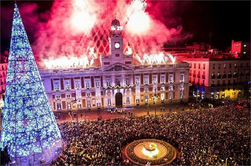 Festejos en Puerta del Sol, Madrid