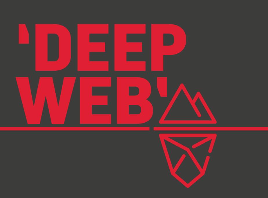 Ilustración Deep Web. Internet profunda.