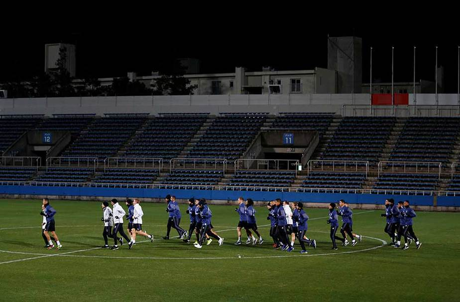 Real Madrid entrenamiento en Yokohama
