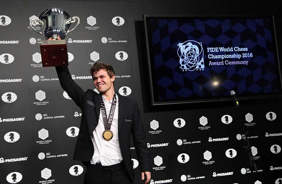 El Campeón del Mundo de Ajedrez Magnus Carlsen