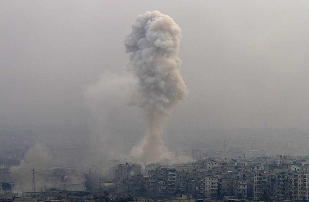 Ataques en Alepo