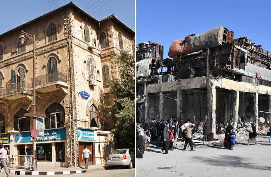 Alepo, antes y después de la guerra (Reuters)