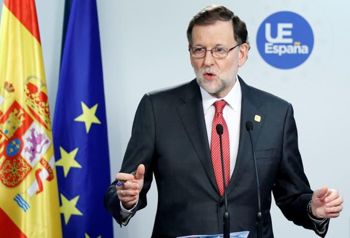 Mariano Rajoy ofreció una conferencia de prensa en Briselas (Reuters)