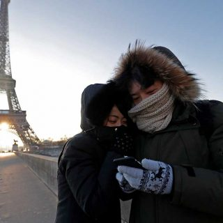 Frío en París