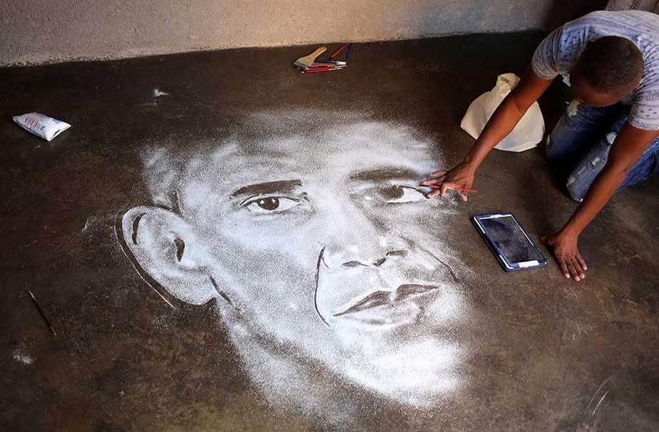 Retrato de Obama con sal