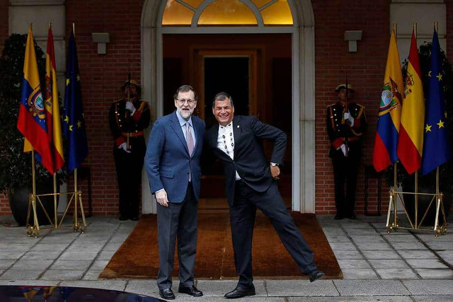 Mariano Rajoy y Rafael Correa