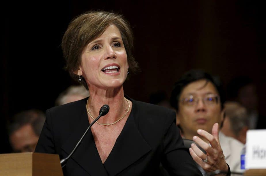 La ya ex fiscal general estadounidense Sally Yates. FOTO: Reuters