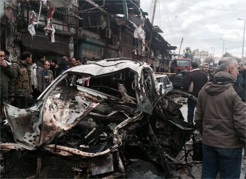 La foto pertenece aun coche bomba que explotó el 5 de enero en Jableh (Reuters)