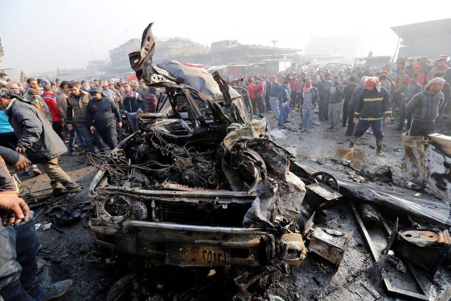 Imagen del atentado que ha tenido lugar en Bagdad, Irak. FOTO: Reuters