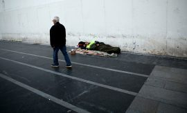 Personas sin hogar en España.