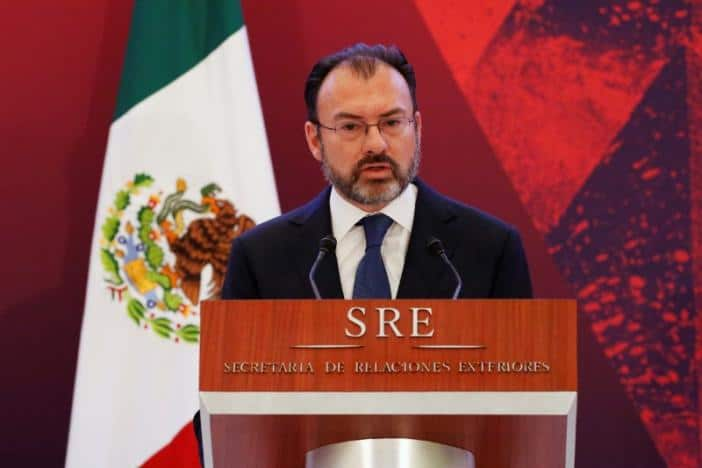 México Foreign Minister Luis Videgaray delivers a speech during a meeting with diplomatic corps in Mexico City