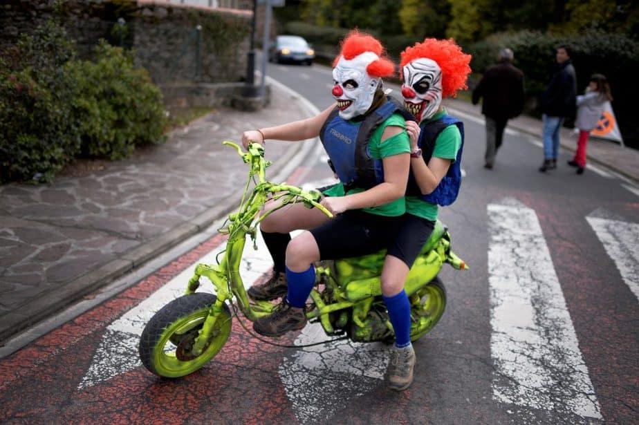 Payasos, disfraces de Carnaval. FOTO: Reuters