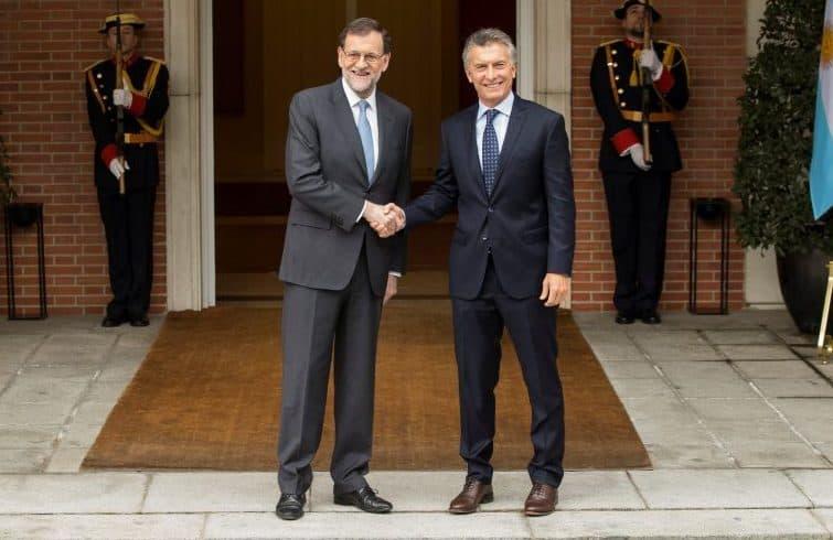 Mariano Rajoy y Mauricio Macri. FOTO: Reuters