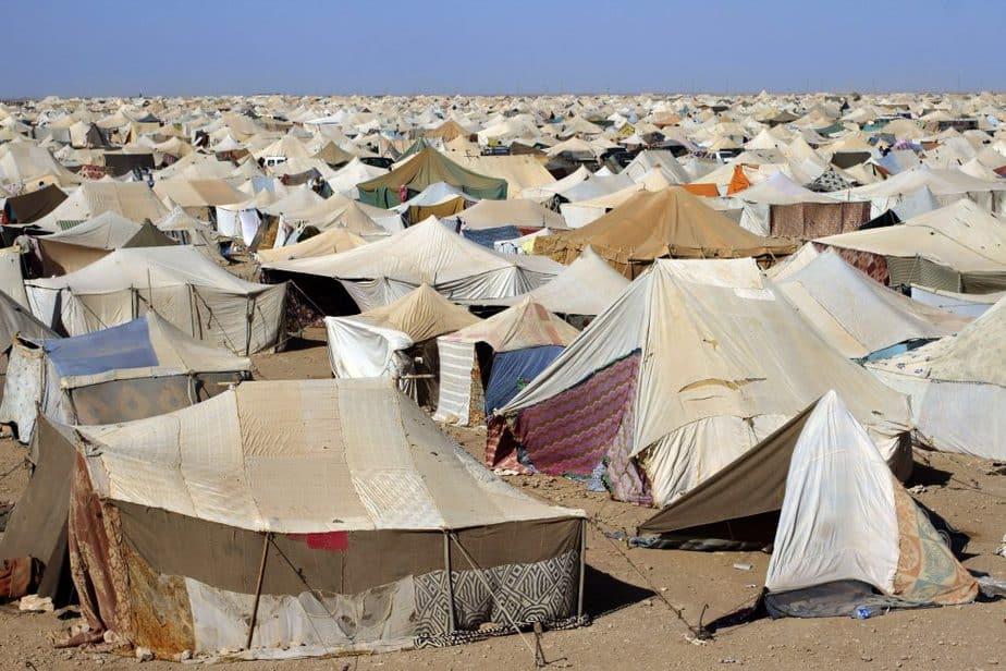 Campamento de El Aaiún, capital del Sáhara Occidental.  FOTO: Reuters