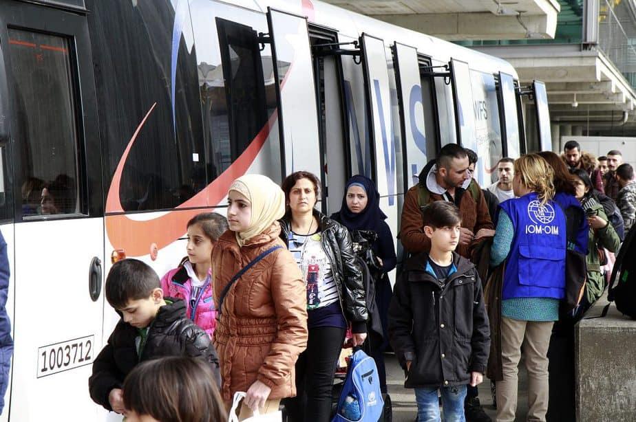 Llegada de refugiados a España. FOTO: Ministerio del Interior