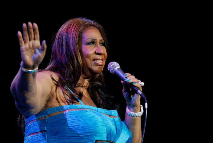 Aretha Franklin performs at Radio City Music Hall in New York February 17, 2012. REUTERS/Shannon Stapleton/File Photo