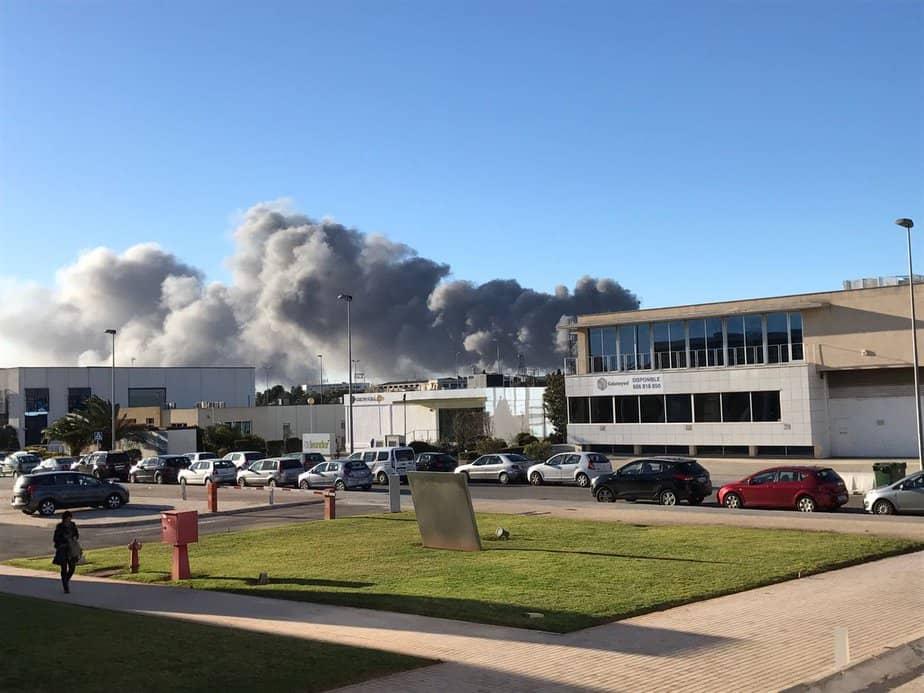 Incendio en Paterna. FOTO: Ayuntamiento de Paterna