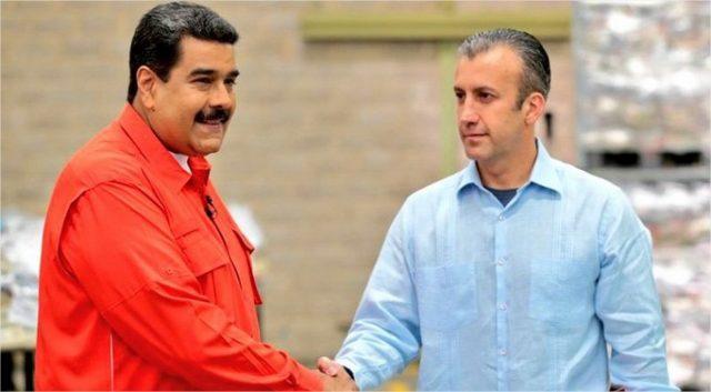 Nicolás Maduro y Tareck El Aissami de Venezuela