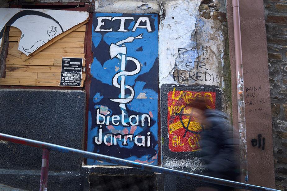 Pintada a favor de la banda terrorista ETA. FOTO: Reuters