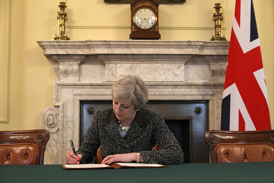 La primera ministra británica, Theresa May, en el centro de la polémica Brexit