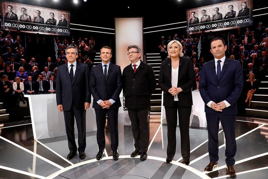 Debate entre los candidatos a la Presidencia de Francia. FOTO: Reuters