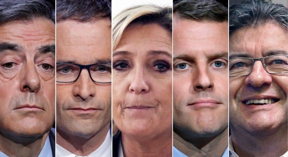 Candidatos a las elecciones presidenciales francesas. FOTO: Reuters