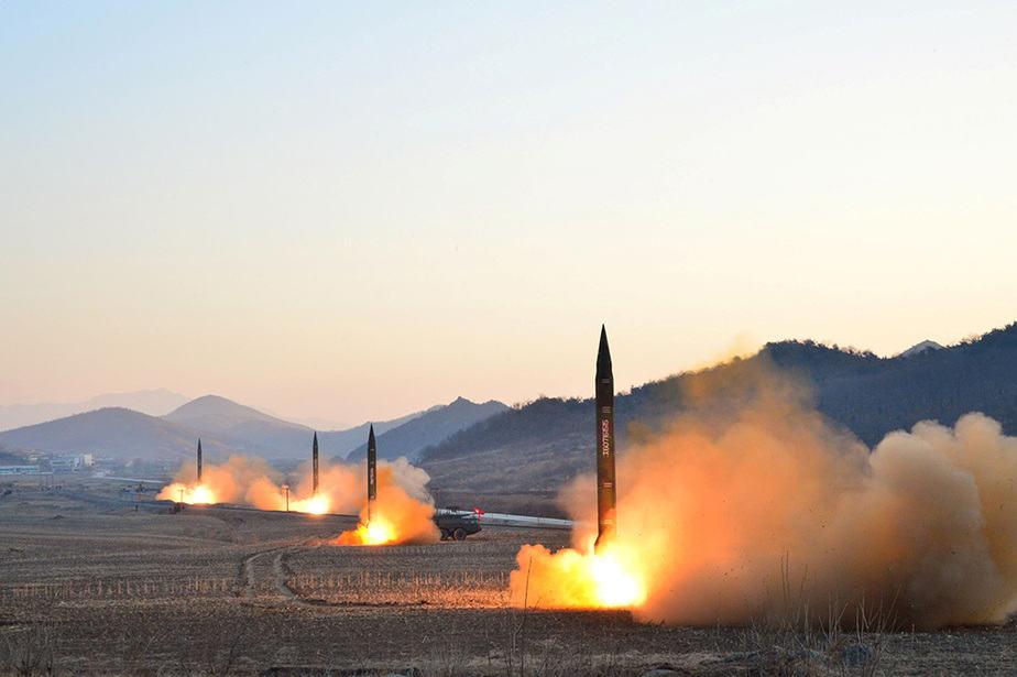 Misiles lanzados por Corea del Norte. FOTO: Reuters