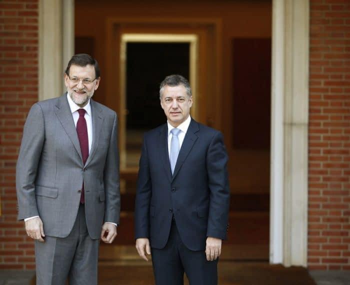 El presidente del Gobierno Mariano Rajoy y el lehendakari, Iñigo Urkullu.
