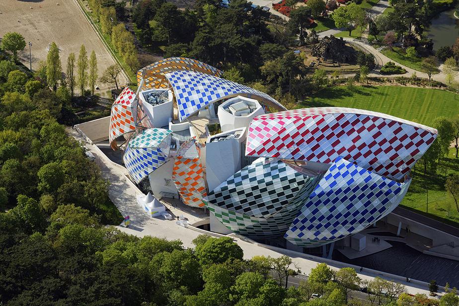 La Fundación Louis Vuitton diseñada por Frank Gehry.