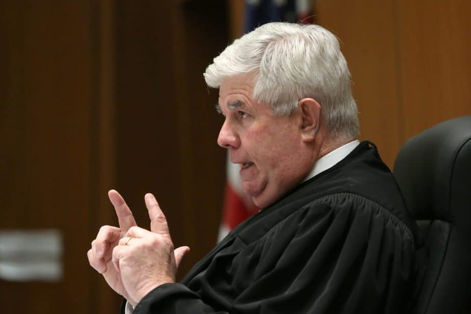Judge Scott M. Gordon speaks in court during a hearing for Roman Polanski in Los Angeles, California, U.S., March 20, 2017. REUTERS/Frederick M. Brown/Pool - RTX31WBM