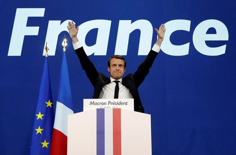 El francés Emmanuel Macron, líder del movimiento En Marcha. FOTO: Reuters